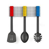 3pcs творческая кухонная посуда силикона набора столовых приборов токаря вилки ложки кухонных принадлежностей блока установлена