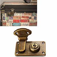 Archaize деревянный замок замок чемодан ящик вокруг замка багажника на заблокировать