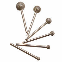 6pcs круглое алмазное колесо размола 3-миллиметровый круглый стержень для dremel ротационного инструмента