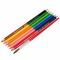 6шт 12 цветов двойные головки искусства базового масла рисования карандашами для художника эскиз
