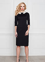 Платье Victoria Beckham черное с жемчугом 3/4 рукав, фото 1