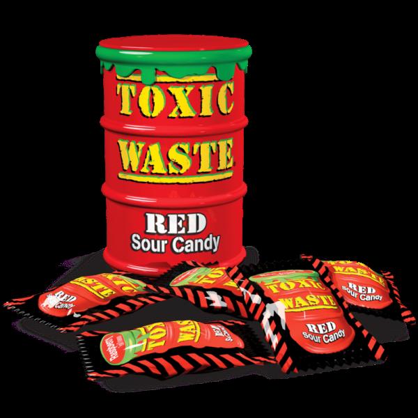Кислые конфеты  Токсик Вейст (Toxic Waste Red) красный - Sweets - купить оригинальные и сладкие подарки в интернет магазине необычных подароков в Харькове