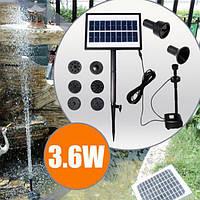 9v 3.6w солнечная энергия dc бесщеточный водный пейзажный фонтан сада насоса с белым LED