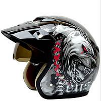 Ретро скутер мотоцикла ведущий защитник половина шлема для Зевса 381c