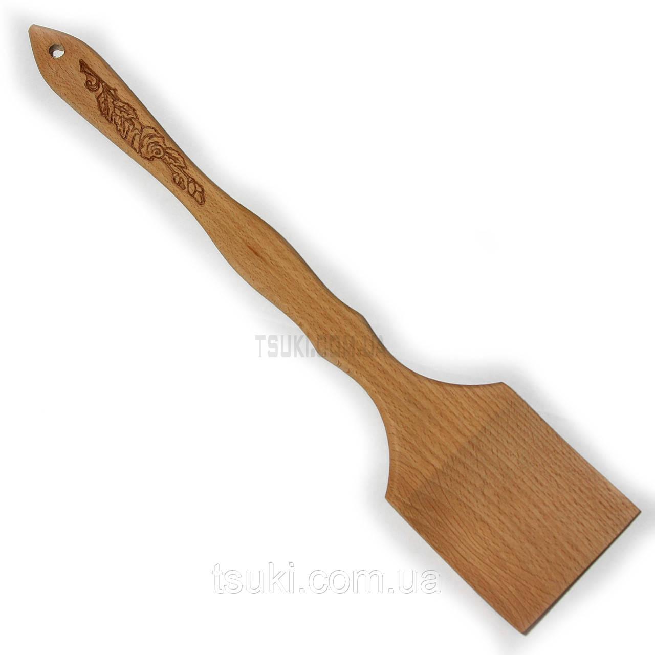 """Лопатка деревянная """"Роза"""" 35см."""