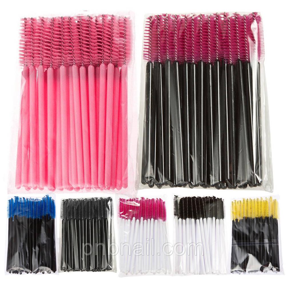 Щеточки для ресниц , 10 шт ,  цвета разные