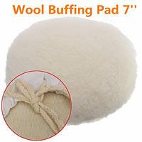 7-дюймовый буфер полировщика мягкая шерстяная подушка шляпы с петлей для полировки полировки