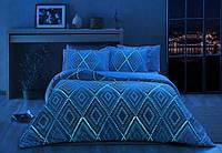 TAC сатин Fluorescent евро Gina  blue