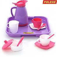 Набор детской посуды Алиса на 2 персоны с подносом Polesie 40589