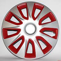 Колпаки на колеса R16 красно / серые Sl/RD колпак K0252