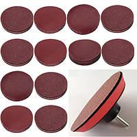 10шт 3-дюймовый 40-2000 песка шлифовальный диск шлифовальная бумага абразивный инструмент