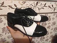 Лаковые кожаные туфли Италия унисекс 31р.