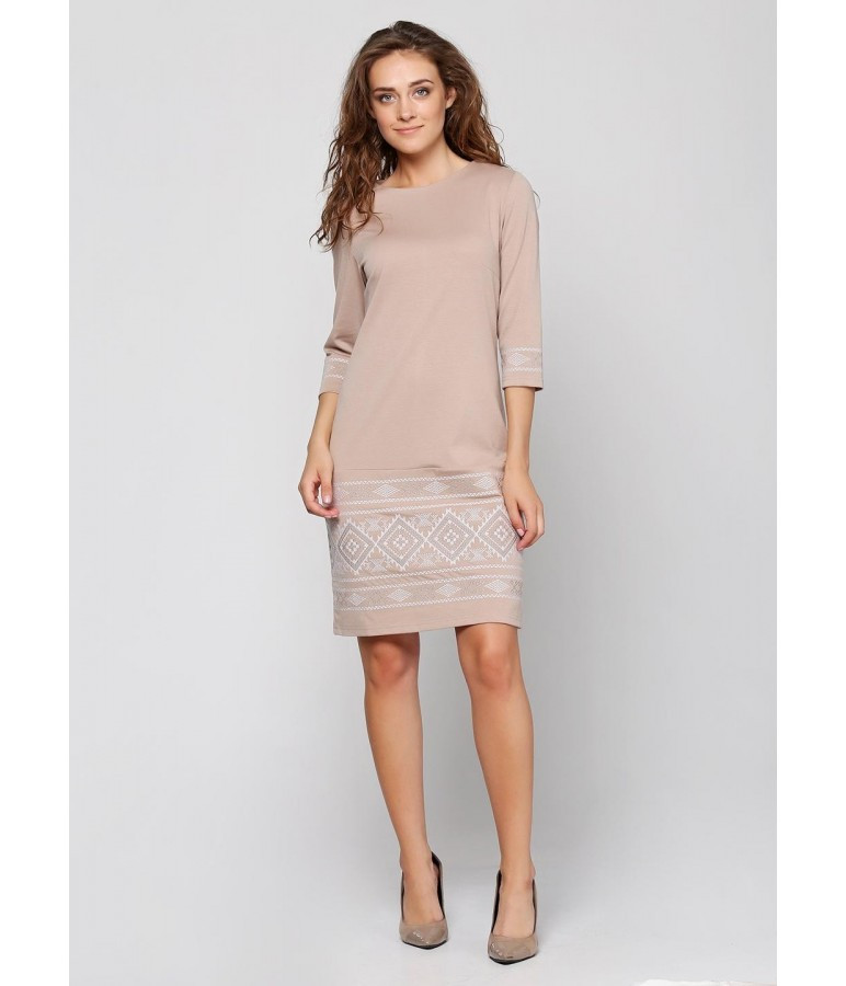 48bc56acf6affb Жіноче плаття кремового кольору: продажа, цена в Яготині. етнічний ...