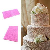 Кружевной пирог силикона формирует инструмент украшения формы печати помадки