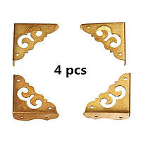 4 шт угол протектор античный сторона медные углы ноутбука деревянные для ювелирных изделий подарочной коробке уголки