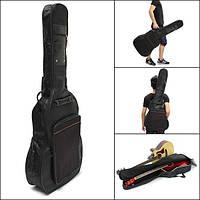 41 Толстая мягкая гитара Сумка Carry Чехол Двойной плечевой ремень Черный