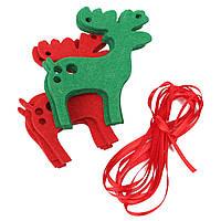 10шт лось рождественские гирлянды овсянка баннер висит украшение олень