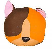 ПРОСТАР Подушка-сплюшка животное хлопок Кот №11 ПРО-28 (оранжевый) 30*10*30 см