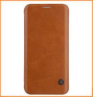 Кожаный чехол-книжка Nillkin Qin Series для Samsung Galaxy S8 SM-G950 Brown