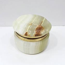 Шкатулка из натурального оникса 4,5*6,5 см