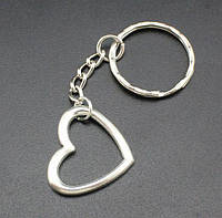 Брелок в виде контура сердца металл серебристый SKU0000903