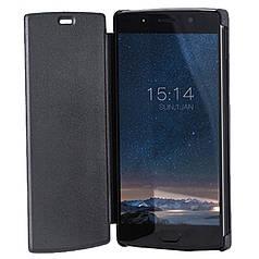 Чехол-книжка + защитное стекло для смартфона Doogee BL7000 Black