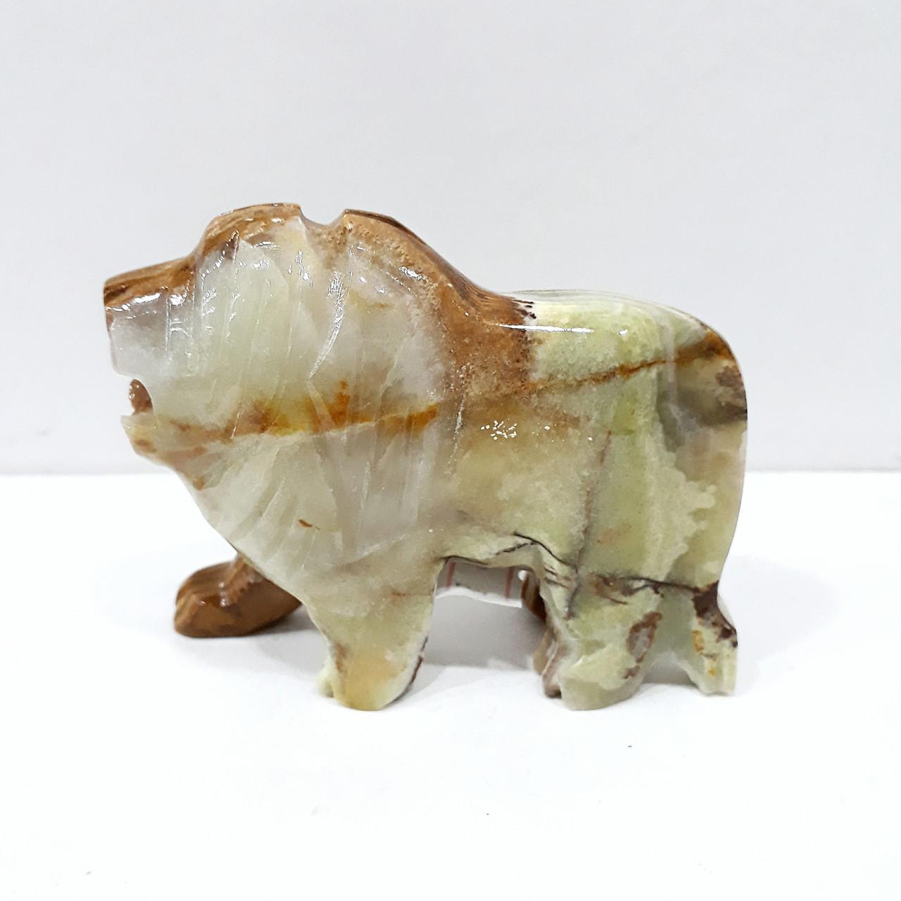 Лев из натурального оникса 8*6,5 см