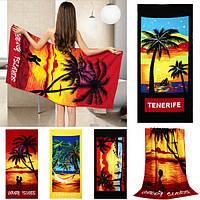 70xКокосовые пальмы на 150 см любовные чувства быстрое сухое банное полотенце микроволокна абсорбента пляжных полотенец
