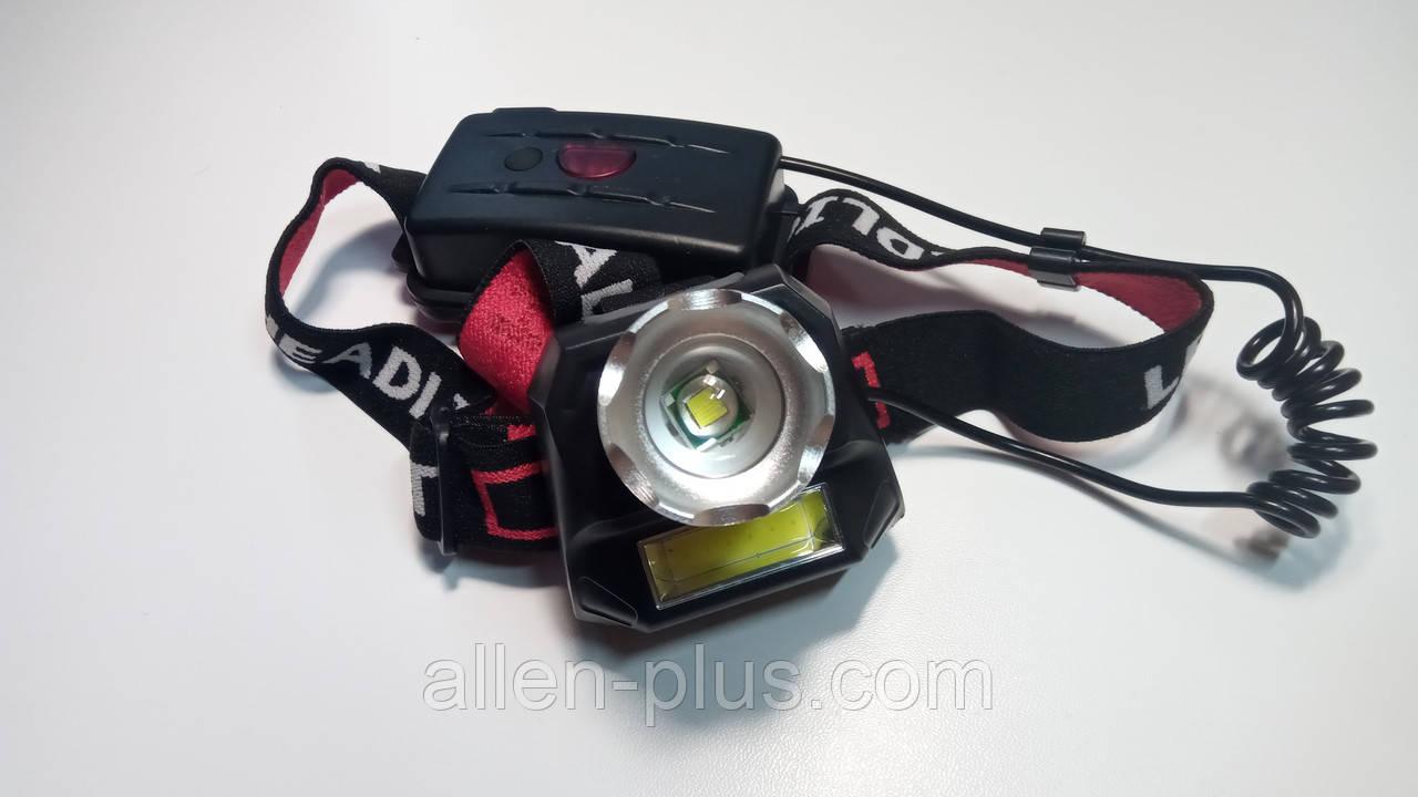 Налобний ліхтар акумуляторний BL-T921-T6 Діод CREE-T6,Діод 1СВД технології COB (2х18650, 3 режиму)