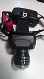 Налобний ліхтар акумуляторний BL-T921-T6 Діод CREE-T6,Діод 1СВД технології COB (2х18650, 3 режиму), фото 3