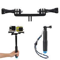 19 см к гибкому моностручку селфи на 49 см удваивают гору ручки держателя камеры для gopro xiaomi yi sjcam