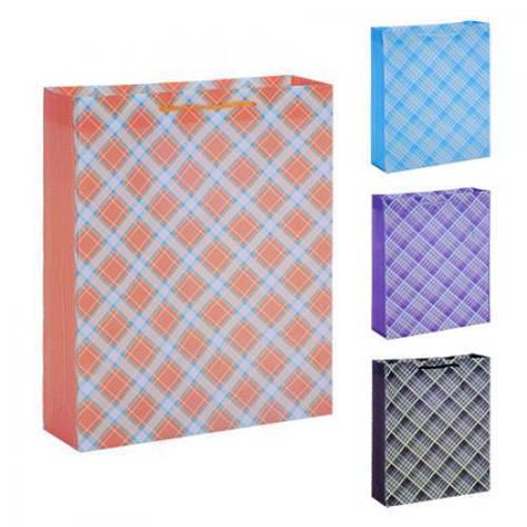 """Подарочный пакет """"Клетка"""" 22*18*7.5см  в упаковке 12 штук, фото 2"""