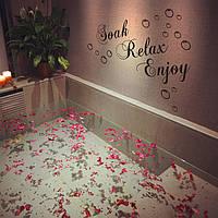 30xВодонепроницаемая ванная обоев на 60 см сменная стенная этикетка внутреннего декора переводных картинок