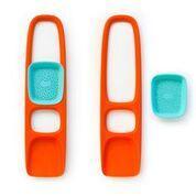 Лопатка с ситом для песка и снега Scoppi ТМ Quut (цвет оранжевый - голубой)