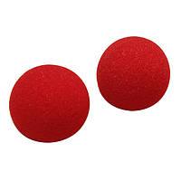 2pcs уличная уловка волшебства крупным планом мягкий шар губки подпирает нос клоуна
