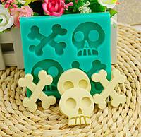 Хэллоуин скелет силиконовые формы торт кости черепа пудинг желе шоколад выпечка плесень