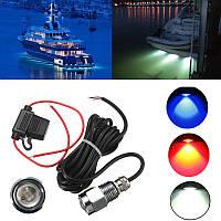 9w ip68 водонепроницаемый уровень 6 LED автомобильных лампочек штепселя утечки лодки