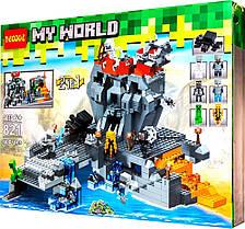 Конструктор Decool my world 821 майнкрафт 600 деталей аналог Lego Minecraft Острів Черепа 47367