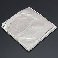 100 оставляет поддельные серебряный лист,листы для золочения украшения искусства работы судов 14 х 14 см