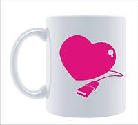 Чашка белая с печатью 310 мл (14 февраля День Св.Валентина)