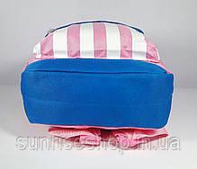 Рюкзак детский для девочки текстильный с наружным карманом , фото 2