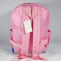 Рюкзак детский для девочки текстильный с наружным карманом , фото 3