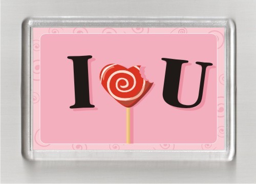 Магниты с печатью (14 февраля День Св.Валентина) - Сувенирная компания яМайка в Одессе