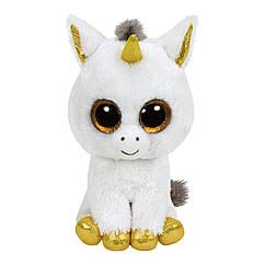 Мягкая игрушка белый единорог Пегасус 25 см. Оригинал TY 36825