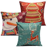 Рождественский серийный хлопковый автомобильный чехол для подушки дивана случая декоративной подушки полотна домашнее художественное о