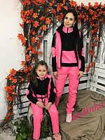 """Очень теплый костюм тройка """"Family look""""-мама и дочка, в расцветках"""