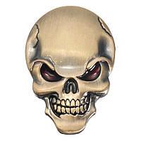Металл черепов демона 3-я автомобильная этикетка переводных картинок значка эмблемы кости черепа этикетки