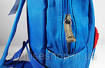 Рюкзак детский для мальчика текстильный с наружным карманом, фото 3