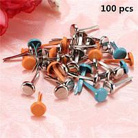 100 шт 6 * 13мм смешанный цвет скрапбукинга барды пастельных круглые металлические шпильки для украшения записки