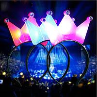 1PC освещает корону Headbrand полька точка мигает LED мигает на день рождения